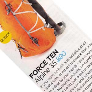 Force Ten Alpine 35 Product Review