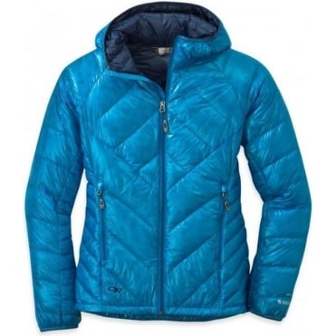 Womens Filament Hooded Down Jacket
