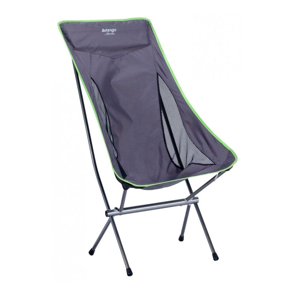 camping chair n black and green